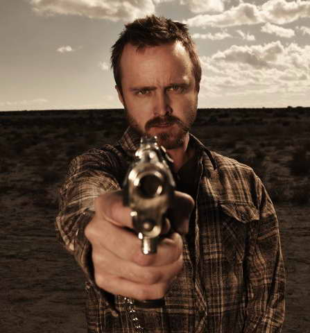 Aaron Paul in season five promo for Breaking Bad