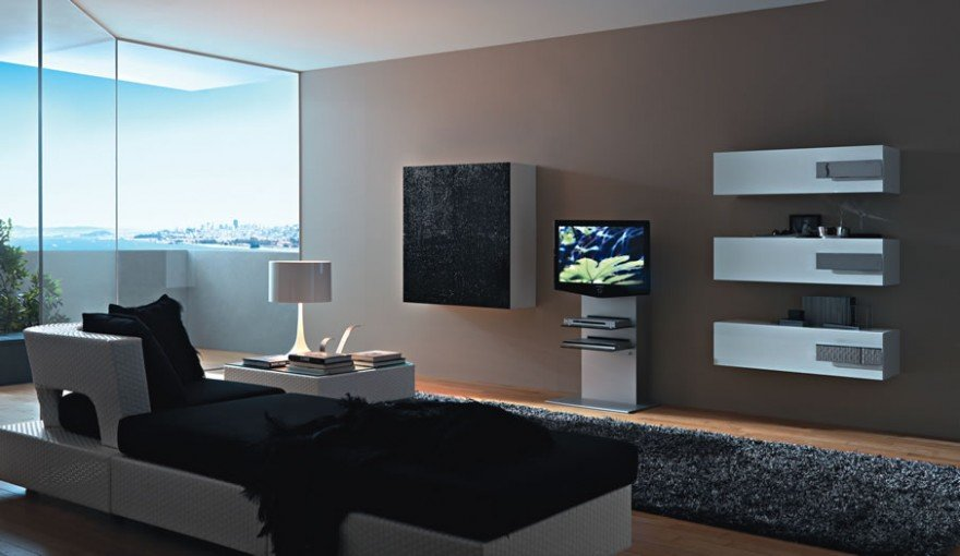 Modern-Living-Room-TV-Wall-Units-in-Black-and-White-Colors