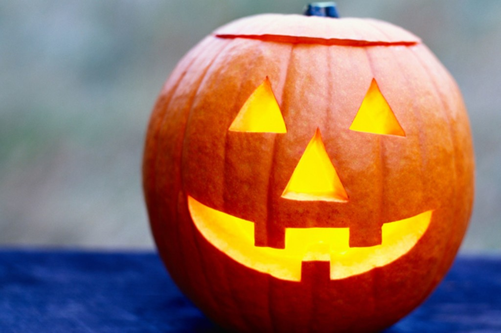 Pumpkin carved for Halloween